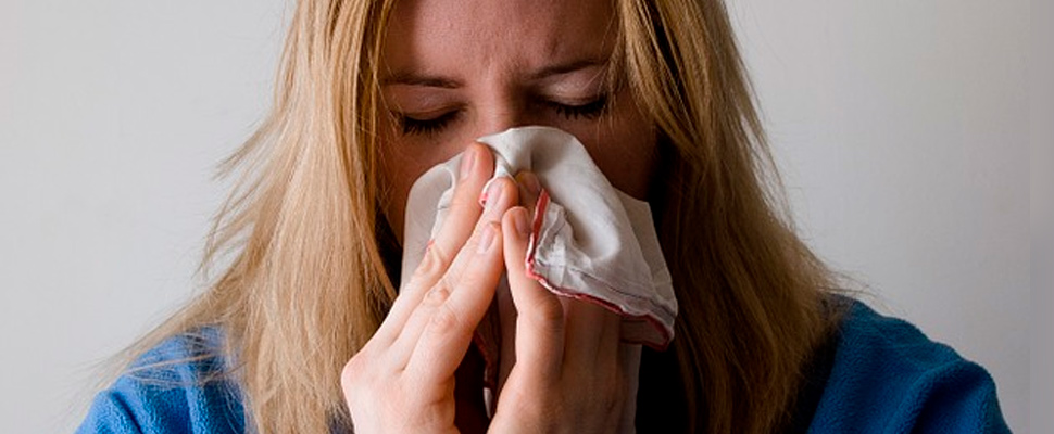 Mujer enferma.
