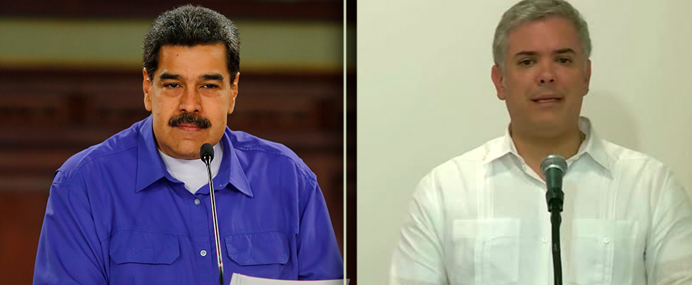 Nicolás Maduro and Iván Duque.