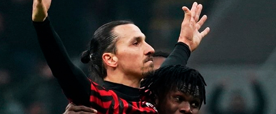 Zlatan Ibrahimovic during a game with AC Milan.
