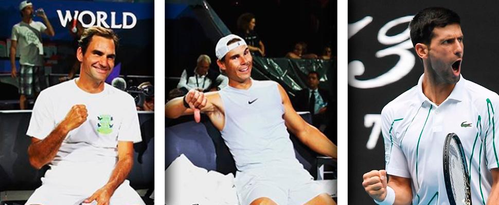 ¡Impresionante! El récord de Federer, Nadal y Djokovic en Australia