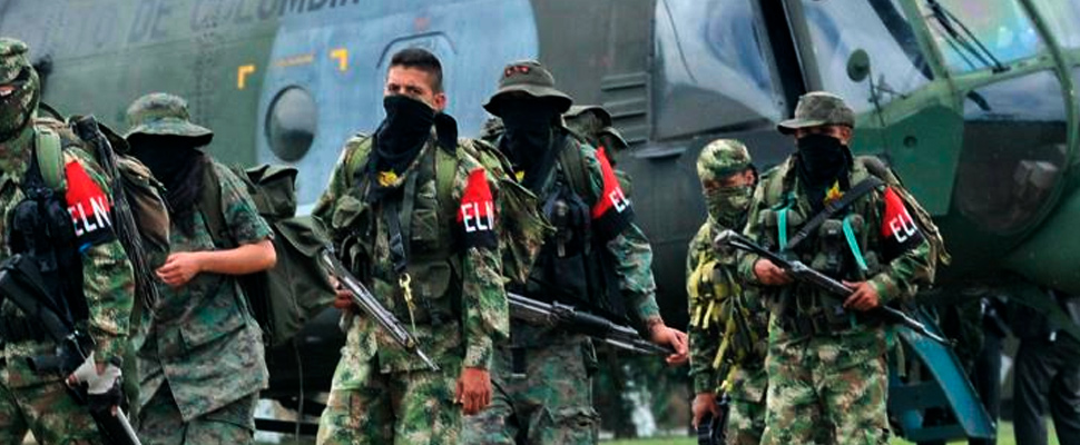 Guerrilleros del Ejército de Liberación Nacional (ELN) de Colombia.