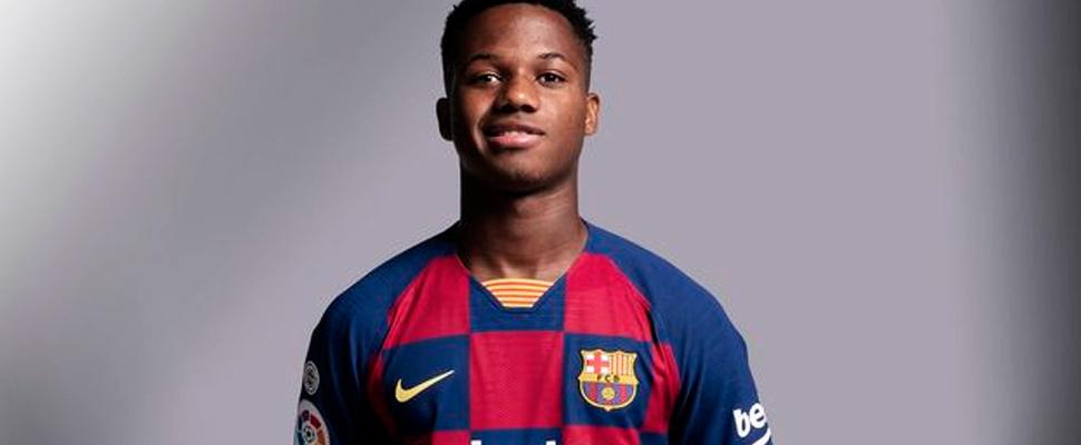 Ansu Fati, jugador del FC Barcelona.