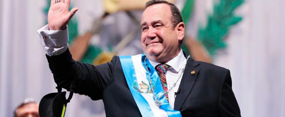 Alejandro Giammattei, president of Guatemala.