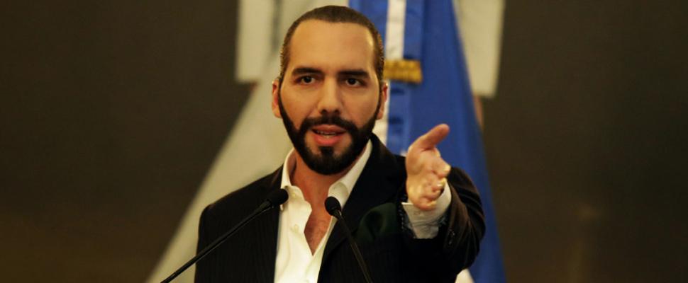 Nayib Bukele, president of El Salvador.