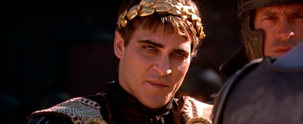 Joaquin Phoenix in the movie 'Gladiator'.