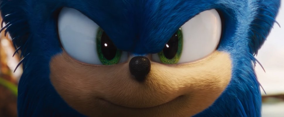 Frame of the trailer for the movie 'Sonic'.