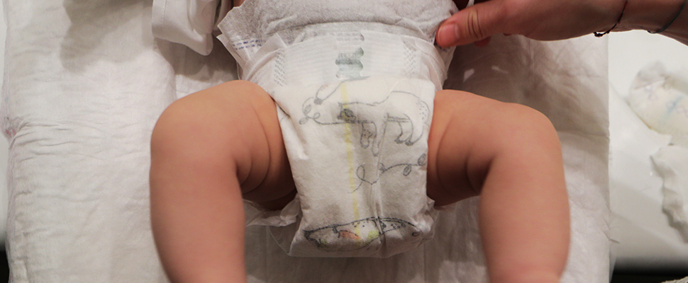 Low-cost 'smart' diaper can notify caregiver when it's wet