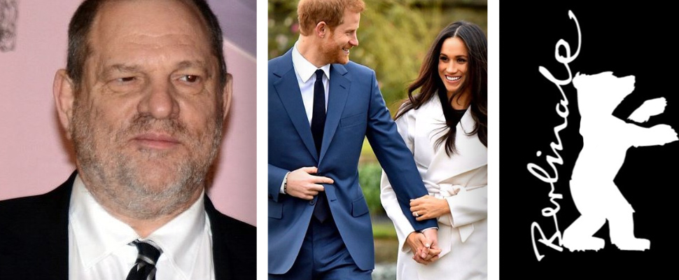 Harvey Weinstein, Harry and Meghan and Berlinale logo.