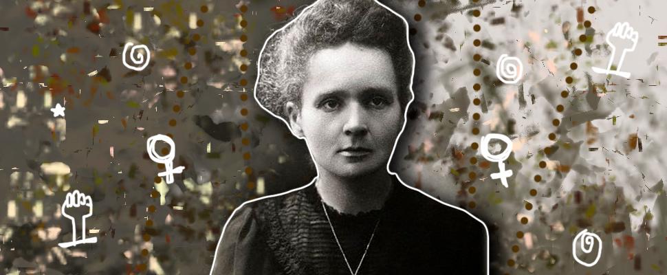 Portrait of Maria Skłodowska-Curie.