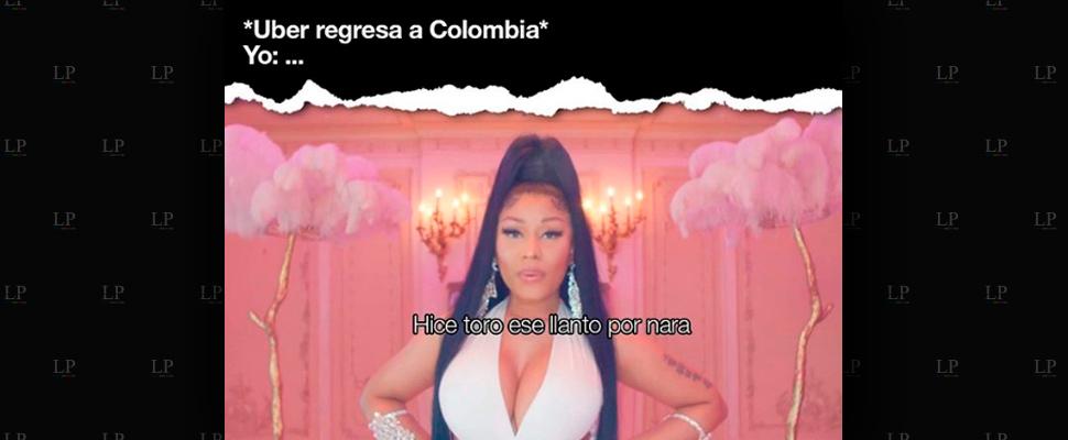 Memes sobre el regreso de Uber a Colombia