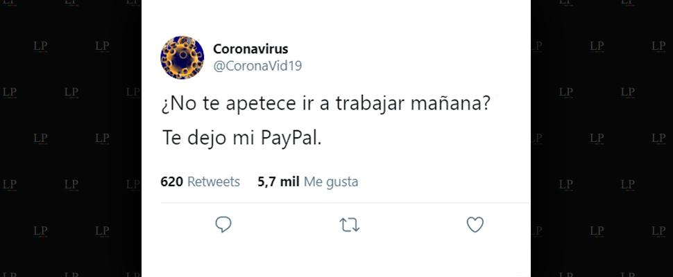 Tuits del coronavirus para reír del contagio
