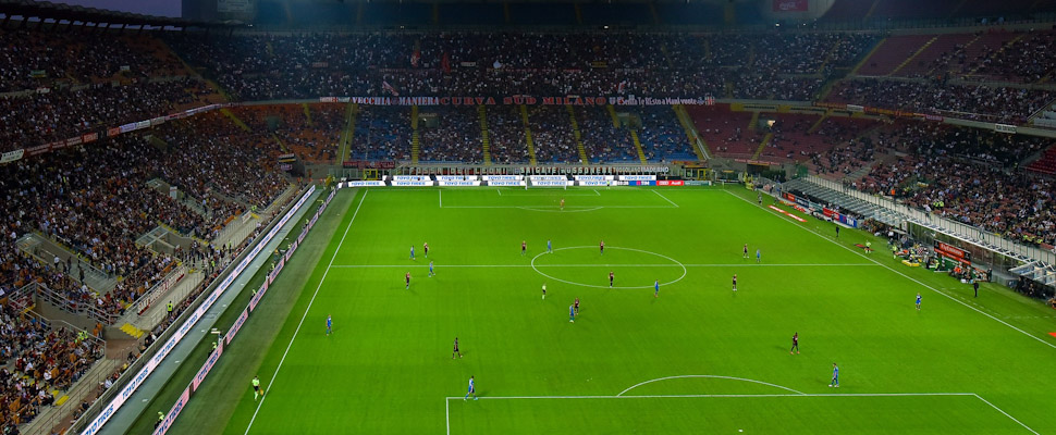 Match at the San Siro stadium in Milan.