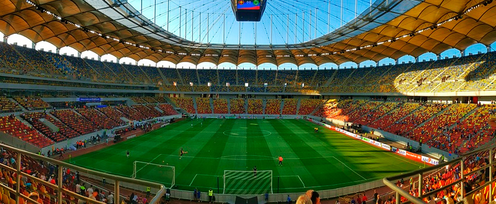 View of the National Arena Bucharest Stadium.