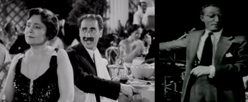 Still from the movie 'A Night at the Opera' and 'Citizen Kane'.