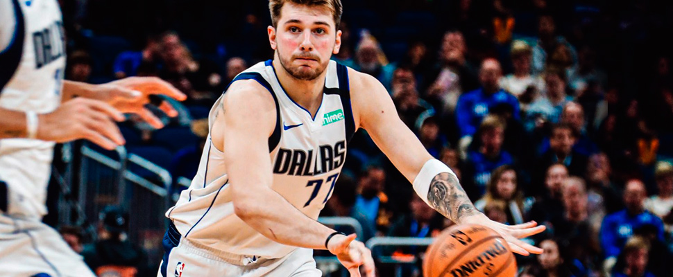 Luka Doncic during a game with the Dallas.