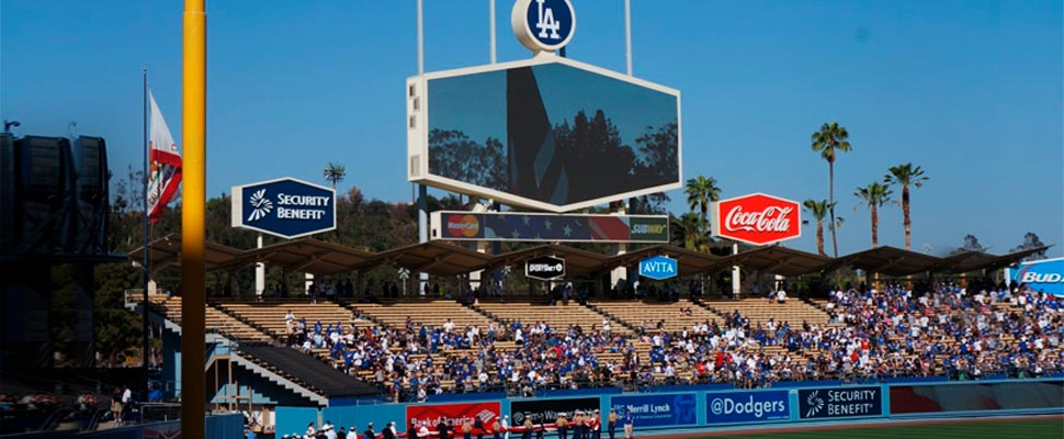 Estadio de los Dodgers.