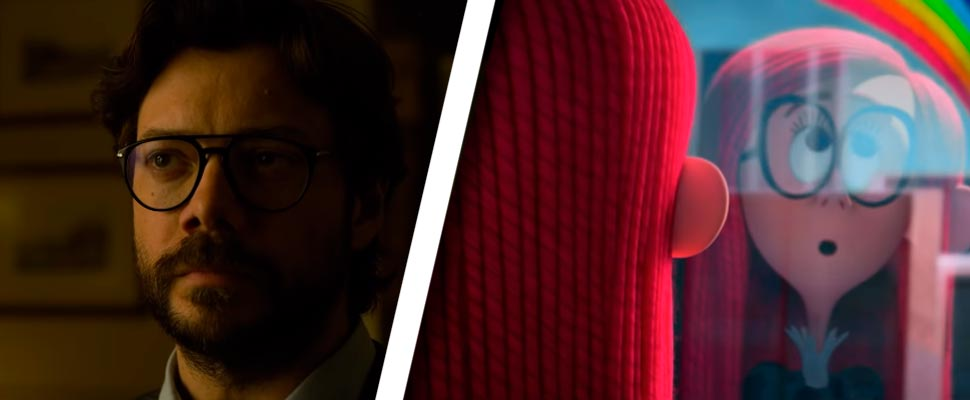 Fotograma del trailer 'La casa de papel: Parte 4' y 'Los hermanos Willoughby'.