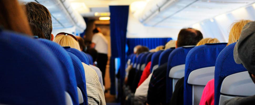 What is the risk of getting a virus on an airplane?