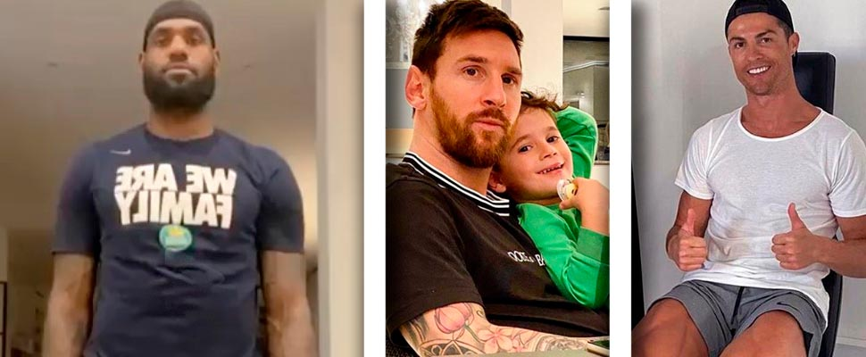 LeBron James, Leo Messi and Cristiano Ronaldo.