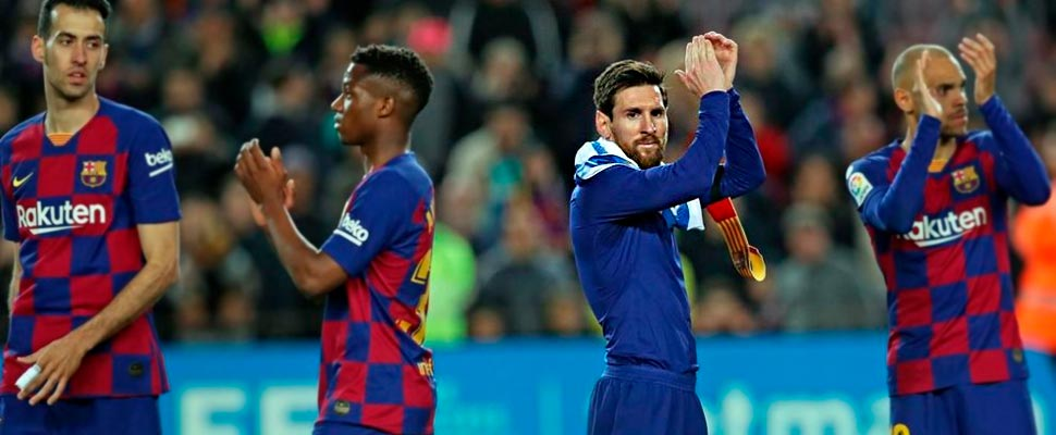 Jugadores del FC Barcelona.