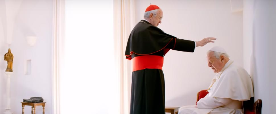 Still from the movie 'The Two Popes'