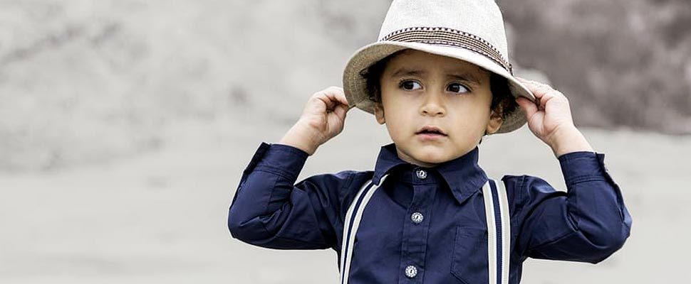 Kid wearing a hat
