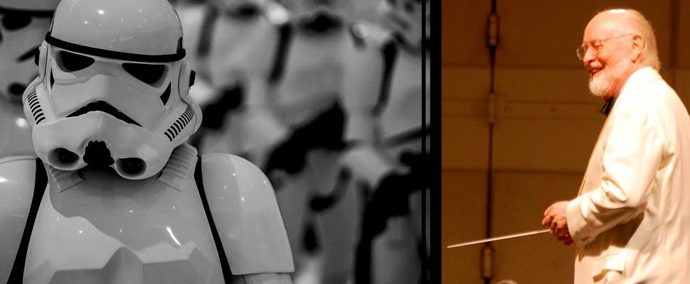 Stortroopers de Star Wars y John Williams.