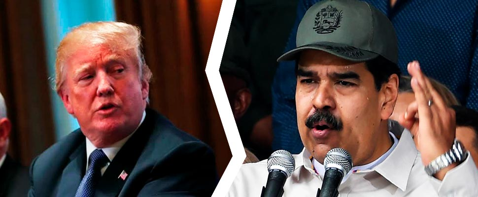 Donald Trump and Nicolás Maduro.