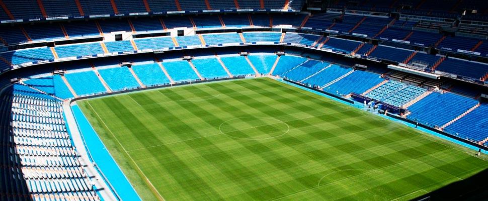 Interior del estadio Santiago Bernabéu