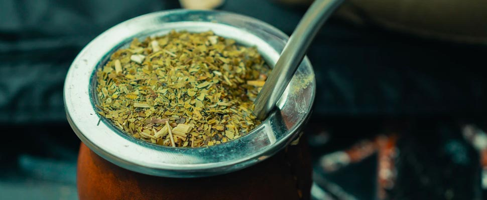 Yerba mate in a bowl.