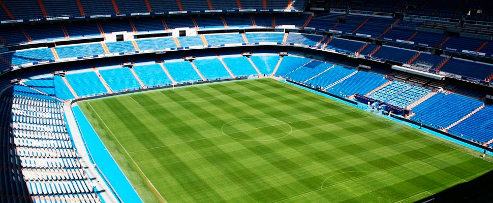 Interior of the Santiago Bernabéu stadium