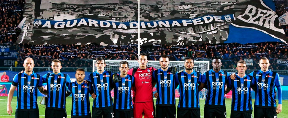 Players from the Atalanta of Bergamo.