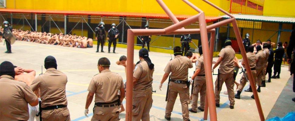 Prison regime in El Salvador.