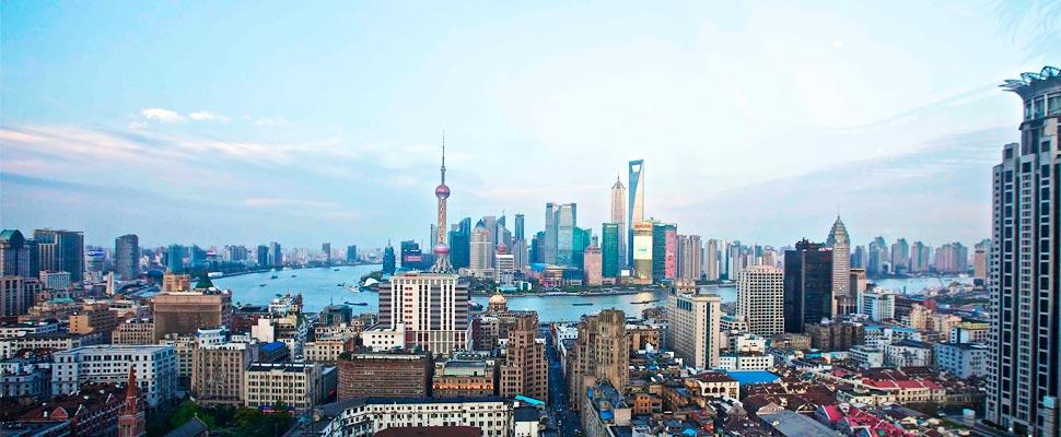 Aereal viwe of Shanghai, China.