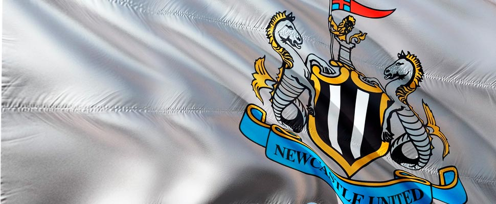 Newcastle United flag.