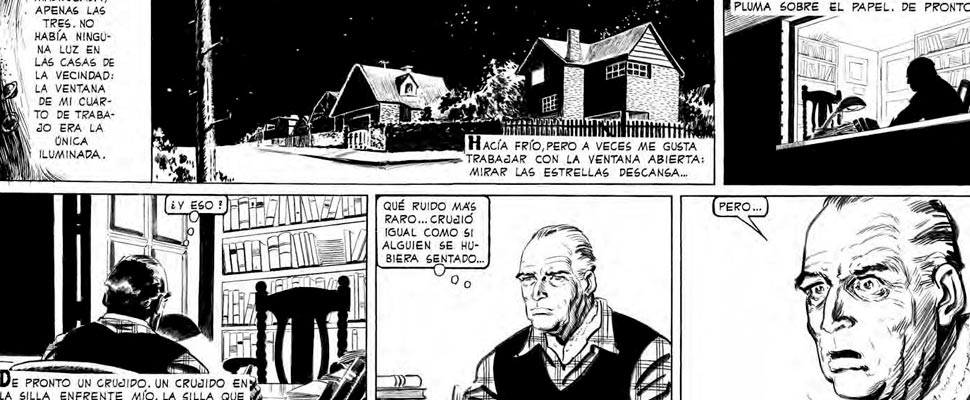 Graphic vignette from the comic 'El Eternauta'.
