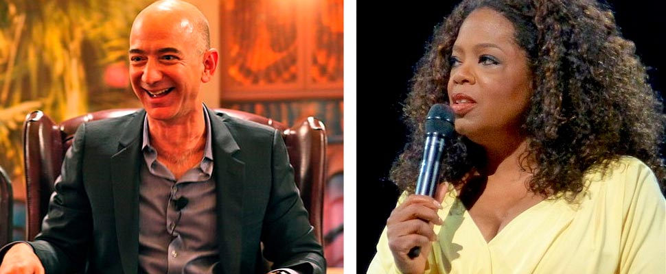 Jeff Bezos and Oprah Winfrey.