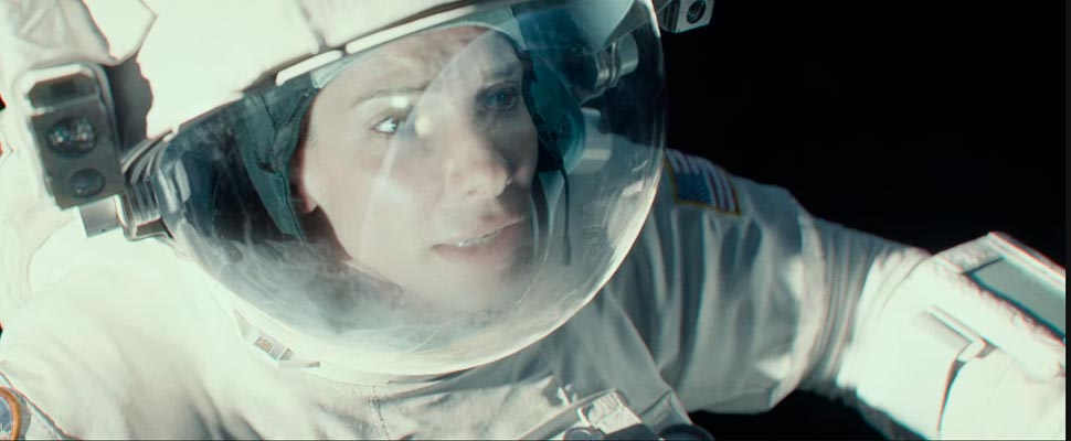 Still from the movie 'Gravity'.