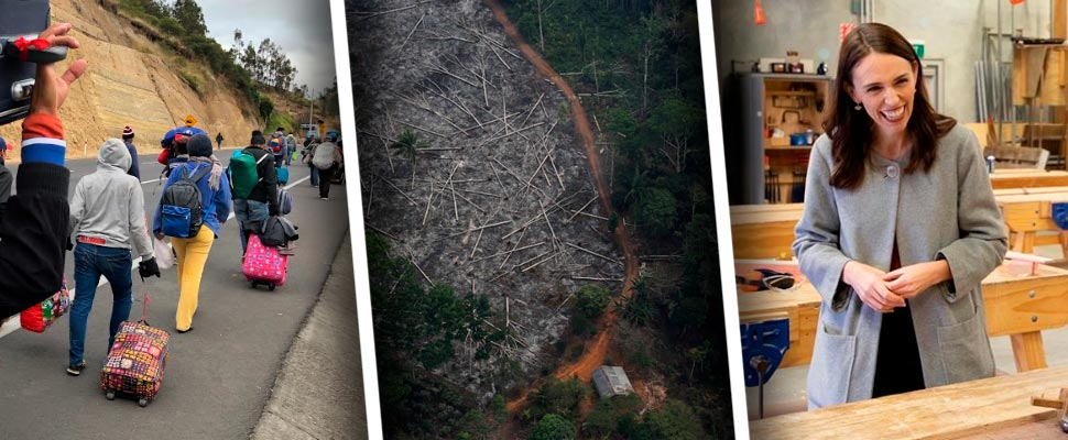 Venezuelan migration, deforestation in the Amazon and Jacinda Ardern