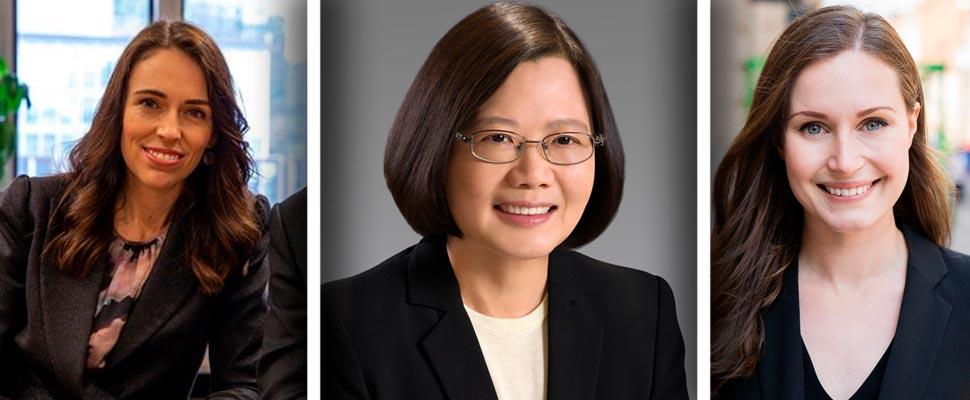 Jacinda Ardern, Tsai Ing-wen, Sanna Marin