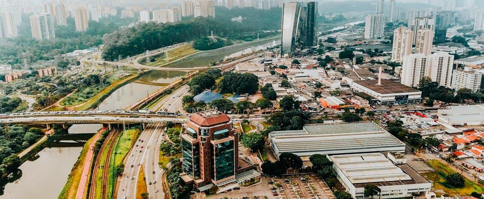 Aerial view of Jardim Dom Bosco in Brazil.