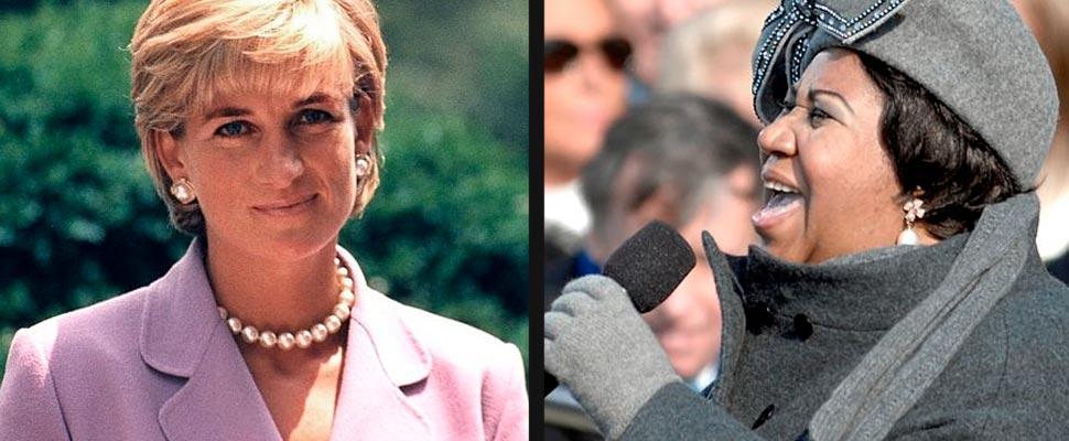 Diana de Gales y Aretha Frankin