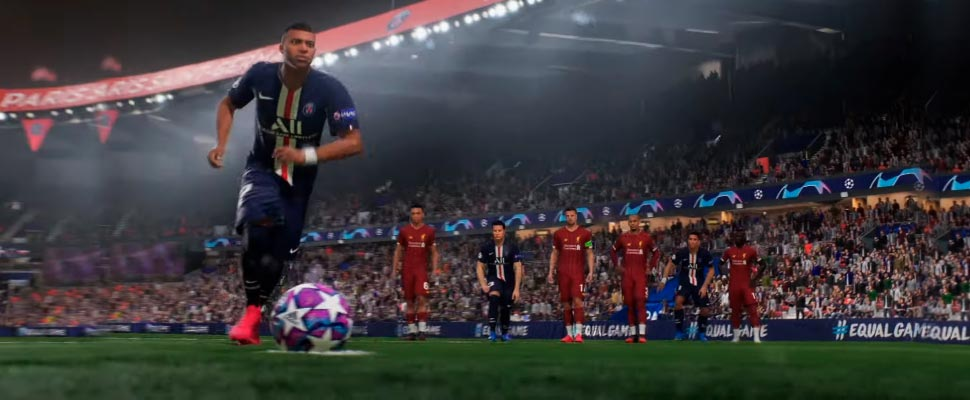 Frame of the video game 'FIFA 21'