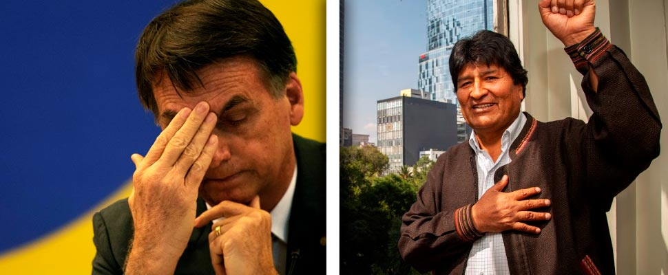 Jair Bolsonaro and Evo Morales
