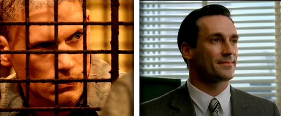 Still from the trailer for 'Prison Break' and 'Mad Men'.