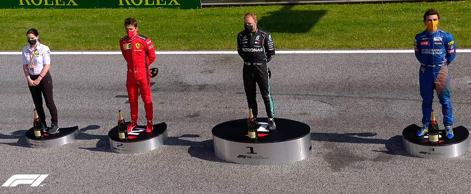 Podium performed at the Austrian GP