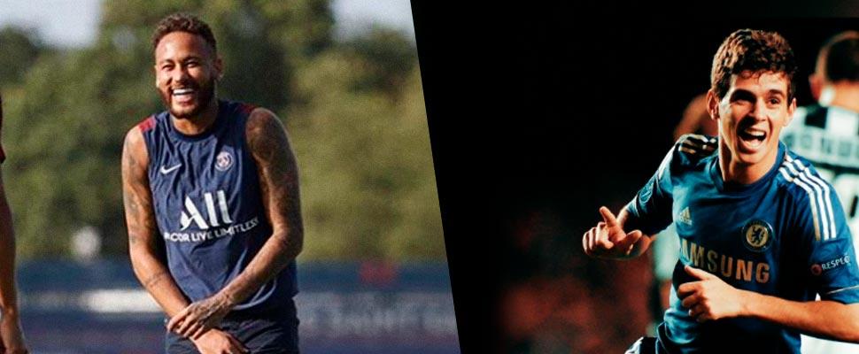Neymar Jr y Oscar Emboaba
