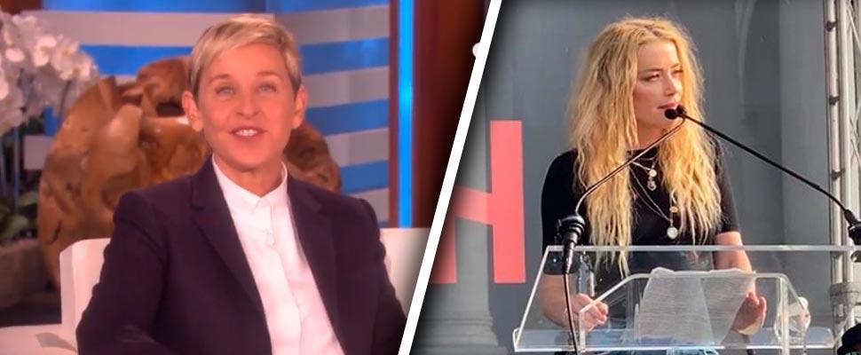 Ellen DeGeneres y Amber Heard