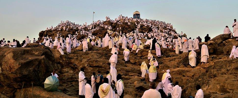 Peregrinos camino a la Meca