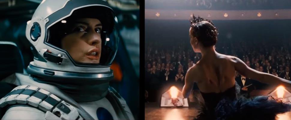Fotograma de la película 'Interstellar' y 'Cisne negro'